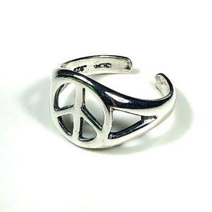 Silpada Sterling Silver Peace Toe Ring, One Size
